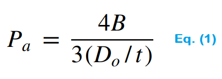 Maximum Allowable Working Pressure Formula