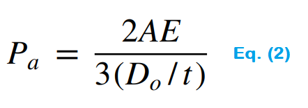 Pipe wall thickness calculation formula under vacuum