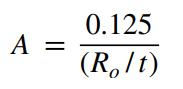Factor A Formula for Do/t <10