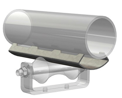 pipe covering protection saddle